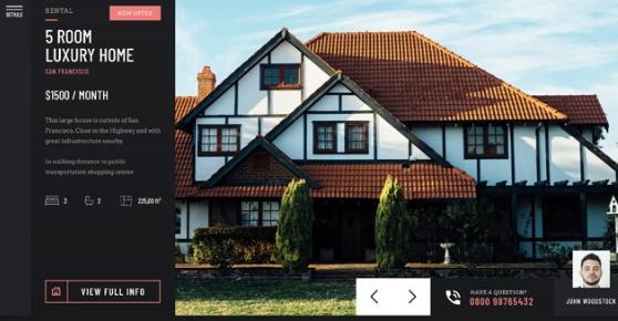 Real Estate Showcase Slider
